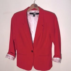 Kensie Red blazer with roll up sleeve